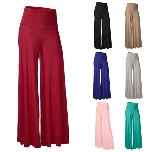 Women Casual Loose Trousers High Waist Wide Leg Pants  Ladies