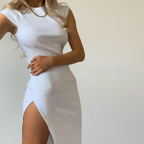 Women Short Vintage White Dress Summer Dress Black Elegant Ladies Dresses