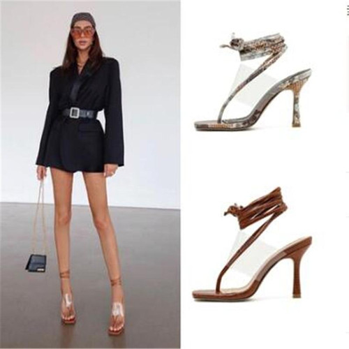 Women Casual Sexy Toe strappy Ankle strap high-heeled Shoes