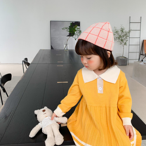 Girls  Autumn New Knitted Dresses for Kids Children Clothes