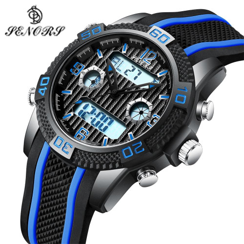 Senors Digital Electronic LED Male Wrist Watch Sport Men
