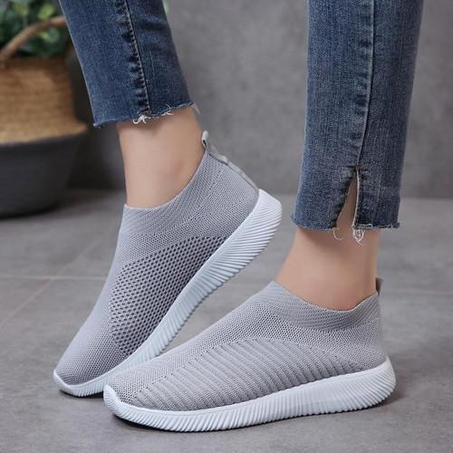 Rimocy Plus  Breathable Mesh Platform Sneakers Women Slip For Ladies