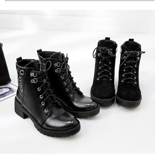 Woman Boots Thick Fur Ankle Boots Women High Heel Platform Rubber Ladies