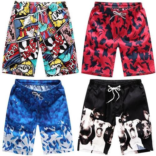Summer New Casual Shorts Men Printed Beach Shorts Mens