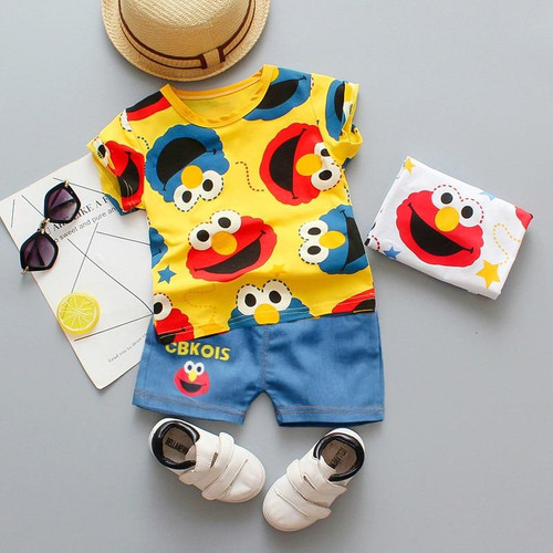 Baby boys clothes sets summer newborn baby cotton tshirt