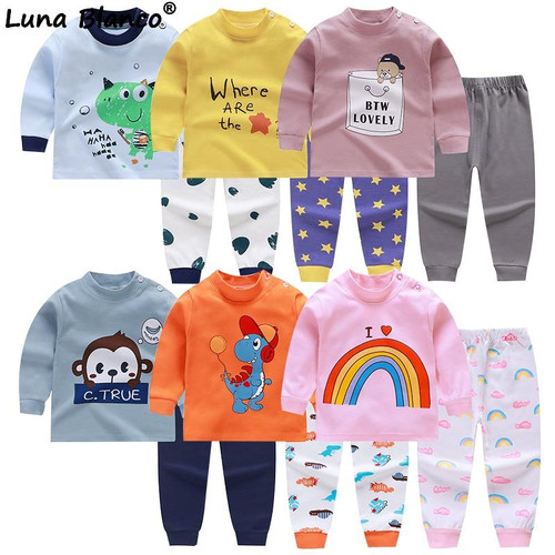 Long Sleeves Baby Suits Autumn Home Underwear Suit toddler Boys Girls Children