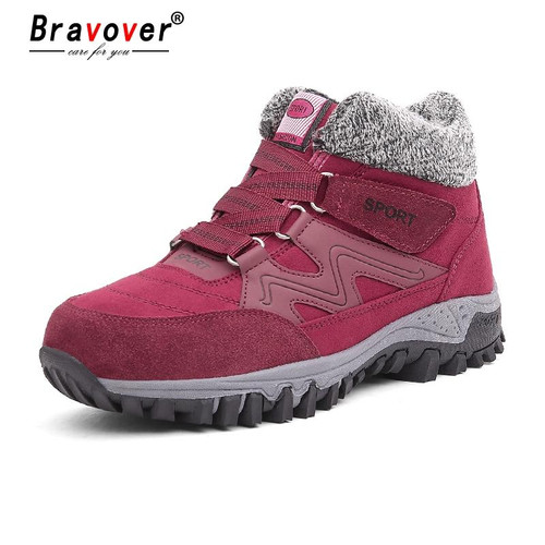 Bravover New High Quality Winter Fashion Casual Women Snow Boots Waterproof Boots Warm Fur Plush Shoes Ladies Outdoor Sneakers - Joelinks store