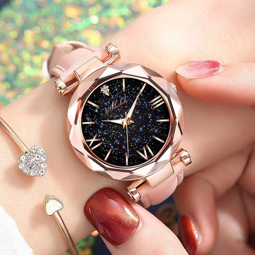Women Casual Leather Ladies Watch Quartz Wrist Watch