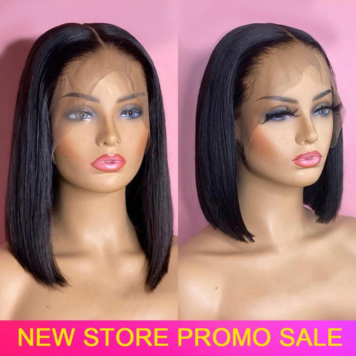 Bob Wig Human Hair Short Lace Front Human Hair Bob Wigs Pre Plucked Straight Wig