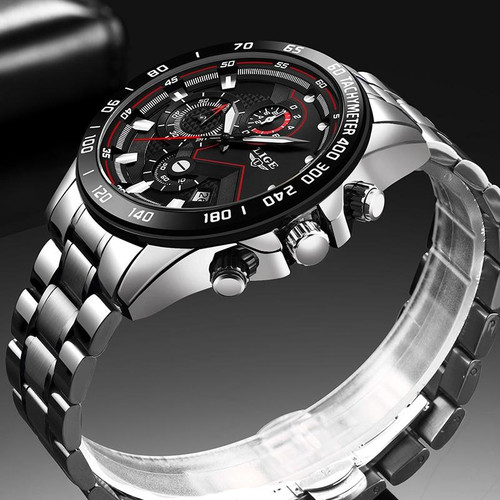 Relogio Masculino  Watches Men Luxury Brand LIGE Chronograph Men Sports Watches Waterproof