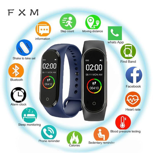 M4 Men And Women New Smart High Quality New Label Belt Sports Blood Pressure Heart Rate Monitor Watch Monitor Waterproof Fitness