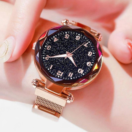 Luxury Women Watches Magnetic Starry Sky Female Clock Quartz Wristwatch Fashion Ladies