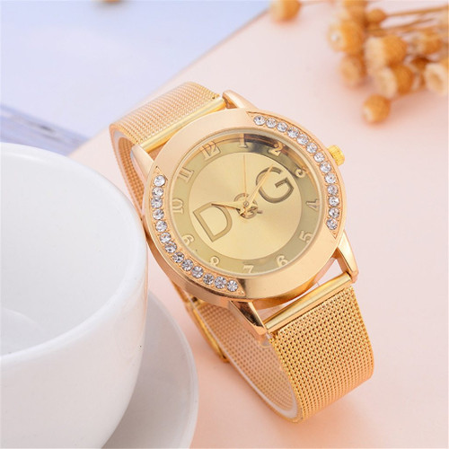 DQG Luxury Brand Women Watches Relogio Feminino Ladies Scrub Belt Watch Surface female