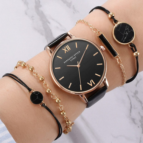Fashion Women's Luxury Leather Band Analog Quartz WristWatch Ladies Watch Women Dress