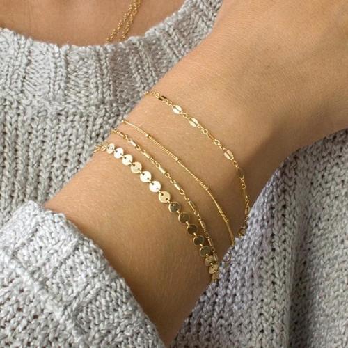 Beads Women Bracelet Multilayer Bracelets Jewellery Ladies Bangles