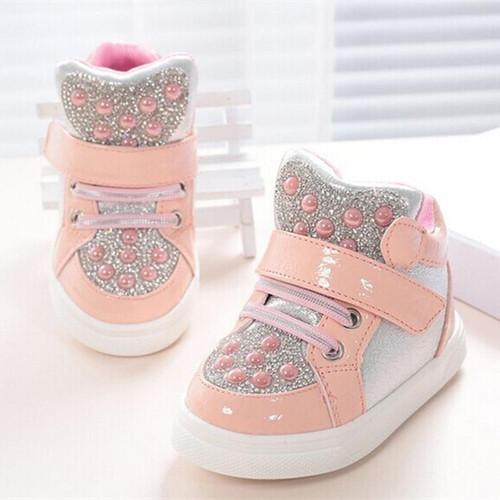 Koovan Children Sneakers Boots Rhinestone For  Children Boys Kids Girls