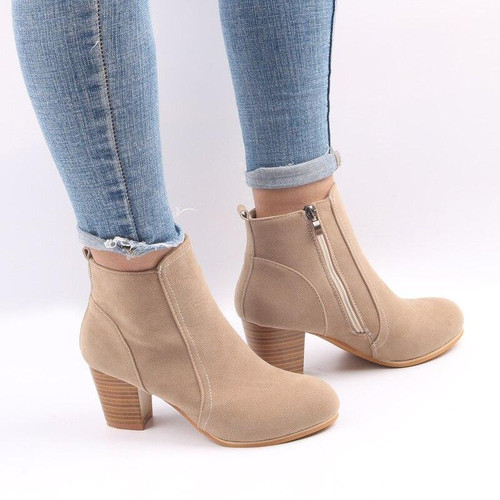 Hot Autumn Winter Women Boots Solid European Ladies shoes  boots Suede Leather ankle boots