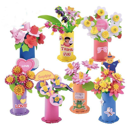 Toys for Children Crafts Kids DIY EVA Potted Plant Kindergarten Early Learning Education Toys