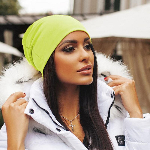 Unisex Women Men Knit Winter Warm Ski  Beanie Oversize Caps Hats