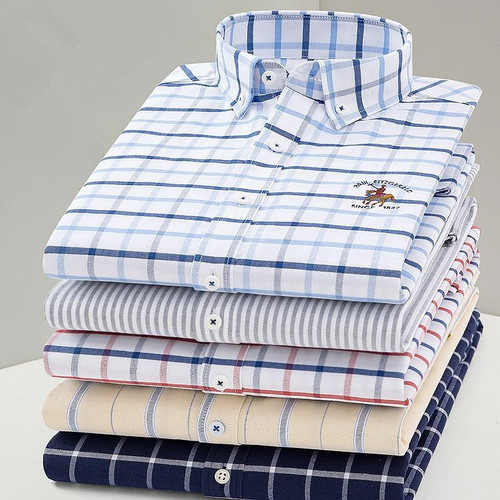 New Arrival Men Shirt Oxford High Quality 100% Cotton Shirt Male Long Sleeve Shirts Casual