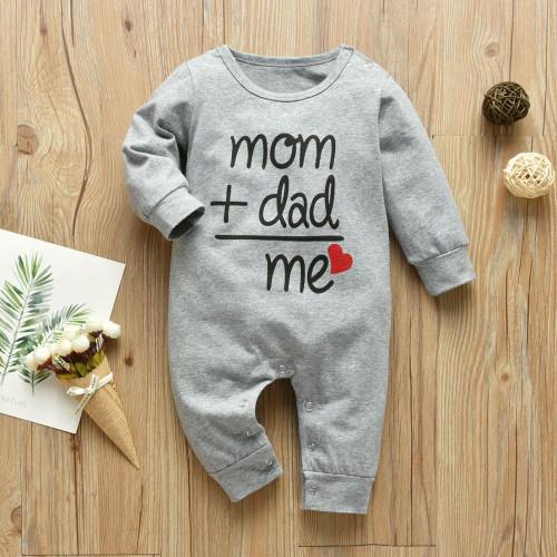 Baby Boys Girls Romper Cotton Long Sleeve Letter Jumpsuit Infant Clothing