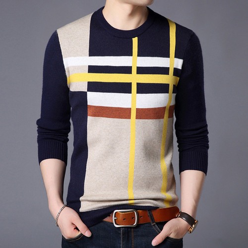 Men's Spring Autumn Casual  Korean Sweater Top