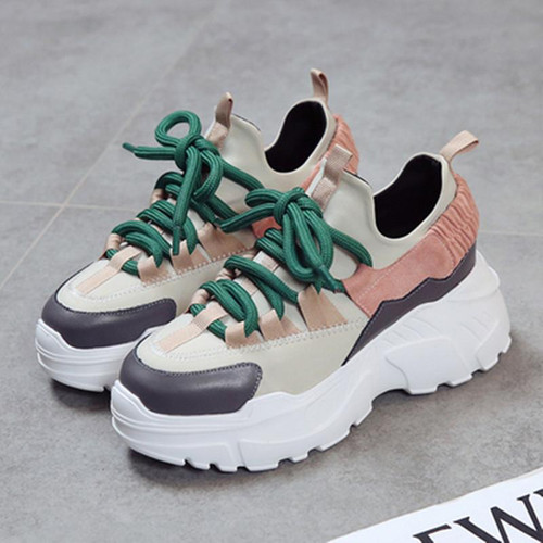 Women Sneakers 2018 New Fashion Women Casual Shoes Trends Ins Female  Flats Platform Spring Autumn Lace Up Shoes Woman Size35-40 - Joelinks store