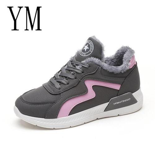 2018 Top Women Casual Shoes Women Shoes Fashion Lace-Up Casual Flats Gray Shoes Winter Sneakers Platform Shoes Women's - Joelinks store