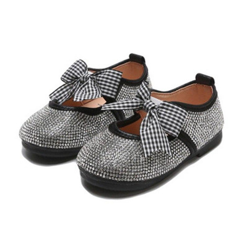 Scsech New Brand Children Korean Style Princess Girls Crystal Kids Loafers Toddler Party&Dancing Casual Flat Shoe Footwear S8505 - Joelinks store