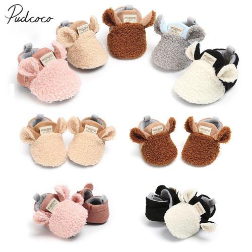 2018 Brand New Toddler Newborn Prewalker Trainers Fur Winter Animal Ears First Walker Baby Crawling Shoes Boy Girl Slippers - Joelinks store