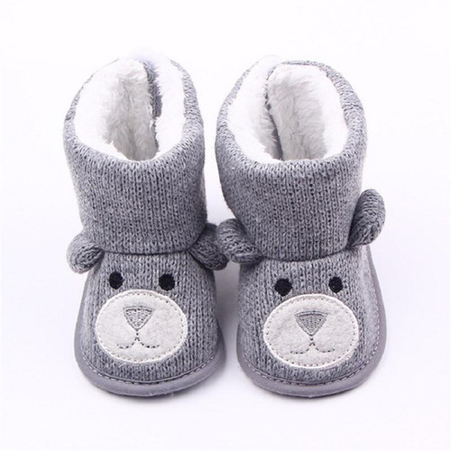 Baby Winter Boots Infant Toddler Newborn Cute Snowfield Booties Boot Cartoon Bear Shoes Girls Boys First Walkers Super Keep Warm - Joelinks store