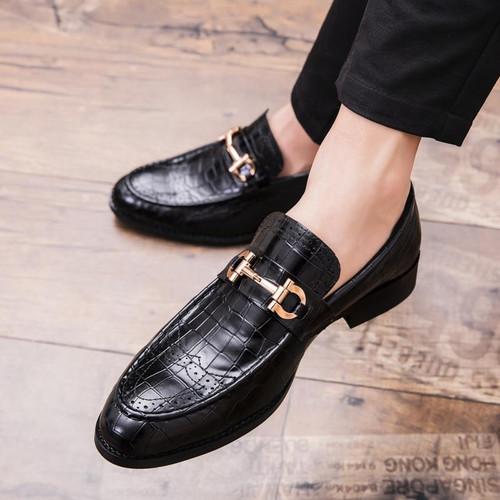 Genuine Leather Luxury Shoes Wedding Shoes Floral Print Men Flats Office wedding party Formal Shoes - Joelinks store