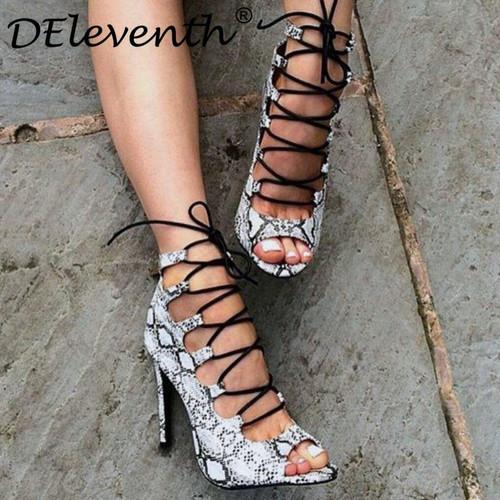 2019 summer boots gladiator stiletto high heels women's - Joelinks store
