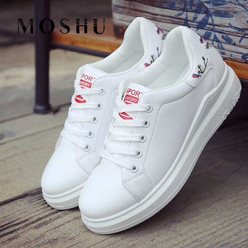 2019 Women Casual Shoes Wedges White Sneakers - Joelinks store