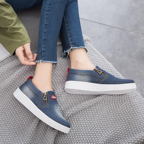 Women Shoes Denim Casual Shoes Women Sneakers 2019 Spring - Joelinks store