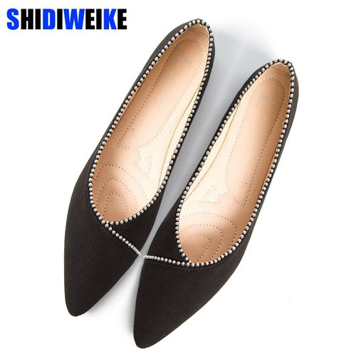2019 New Fashion Woman Flats Shoes Female Ballet Shoes Slip On - Joelinks store