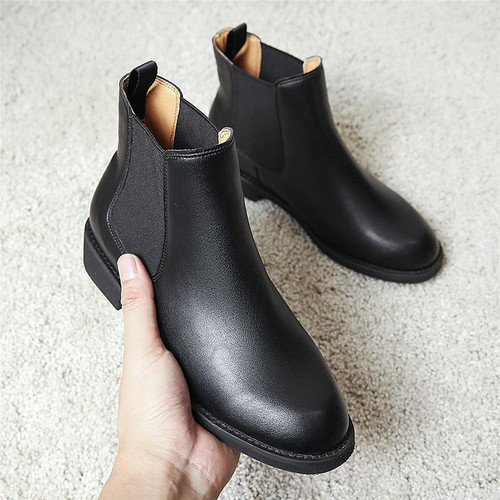 2019 Warm Fur Plush Women Winter Boots Slip-on Spring Autumn Ankle Boots for Women Chelsea Boots HZXINLIVE - Joelinks store