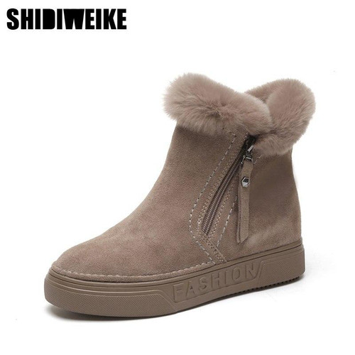 Winter Boots Warm Snow Boots Suede Leather Boots Women Shoes 2019 plus size Wedges Non-slip Women Boots A045 - Joelinks store
