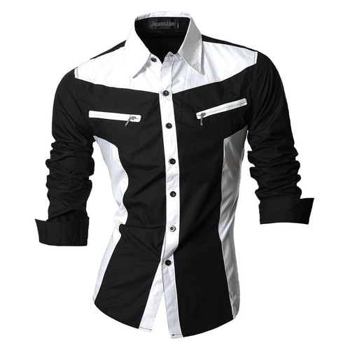 Spring Autumn Features Shirts Men Casual Jeans Shirt New Arrival Long Sleeve Casual Slim Fit Male Shirts Z018 - Joelinks store