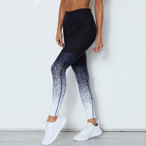 Women Fitness Leggings Casual Print Workout Pants Pencil Stretchy Trousers Gradient Legging Skinny Leggins Gothic Jeggings - Joelinks store