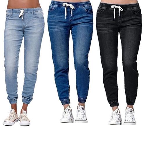 2019 New Autumn Pencil Pants Vintage High Waist Jeans New Womens Pants Full Length Pants Loose Ccowboy Pants - Joelinks store