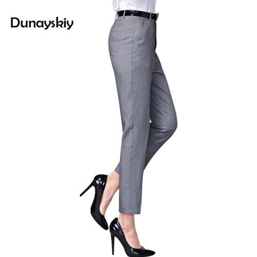 Office Lady Pants Women 2019 new Spring Ol Pantalon Femme Casual Pants Elastic High Waist Slim Work Wear Trousers Botttoms - Joelinks store