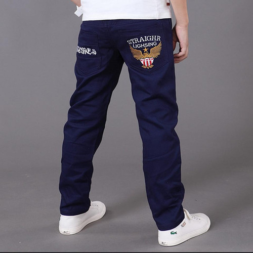 boys pants kids jeans 2019 casual Spring Solid Cotton Mid Elastic Waist Pants for Boy jeans kids Clothing Children Trousers p023 - Joelinks store