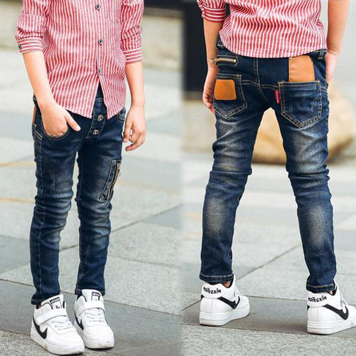 retail 2019 autumn winter cotton pants boys jeans kids stylish fashion trousers pencil pants roupas infantis menina leggings - Joelinks store