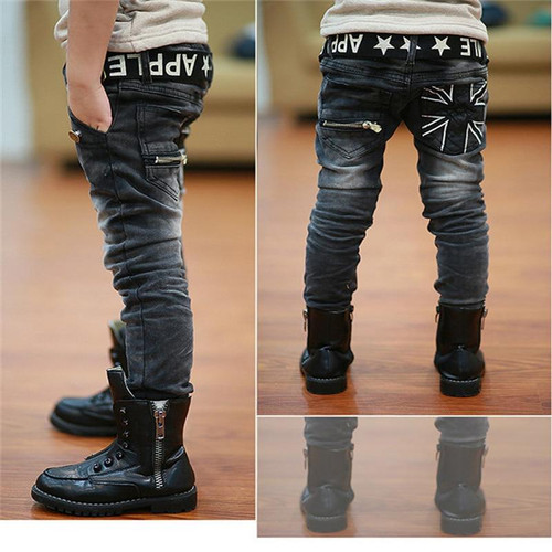 11 years old jeans for boys Kids Pants scratch Boys Jeans Boy Kids Elastic Jean Pants Children Cowboy Pants Warm Teenager Jeans - Joelinks store