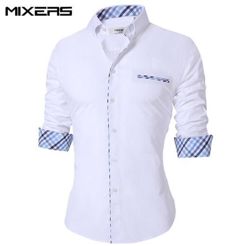2019 New Summer Thin Men's Casual Shirt Regular Cotton Casual Shirt Men Long Sleeve Big Size Breathable Office Dress Shirts Men - Joelinks store