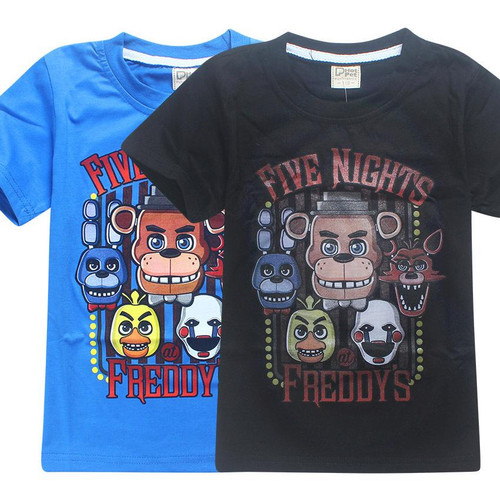 2018 Summer Children's Clothes Cartoon T-Shirts Five Nights At Freddy's  Boys Girls Clothing Kids T Shirt 5 Freddys Tops 3-12Y - Joelinks store