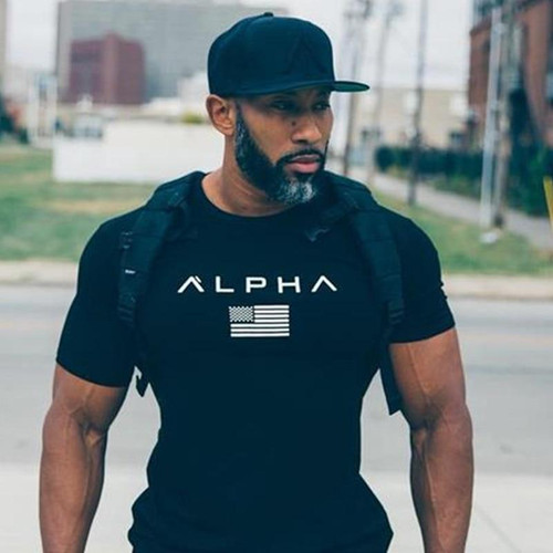 Mens Summer Fashion Casual T Shirt Fitness Bodybuilding Crossfit male Short sleeves Slim fit cotton new Shirts Tee tops clothes - Joelinks store