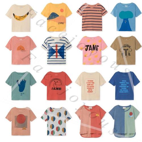 Kids T-shirts Boys Clothes Bobo Choses 2019 Summer Cartoon Girls Cotton Loose T Shirt Casual Tops Tees T-shirt Children Clothing - Joelinks store