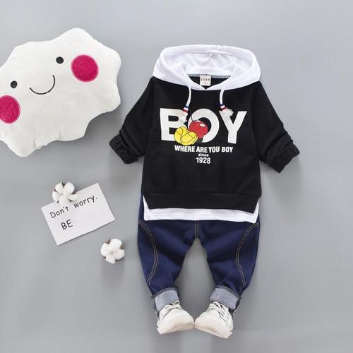 2019 Kid Clothes Sets Baby Boy Cotton Sports Hooded T Shirt Sweatshirt + Pants Children Boys Kids Casual Suits - Joelinks store